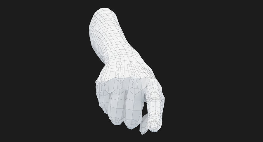 Female Arm A (Pose E) Pointing royalty-free 3d model - Preview no. 35