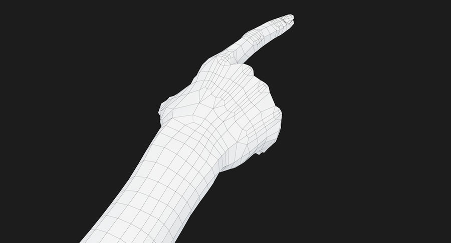 Female Arm A (Pose E) Pointing royalty-free 3d model - Preview no. 41