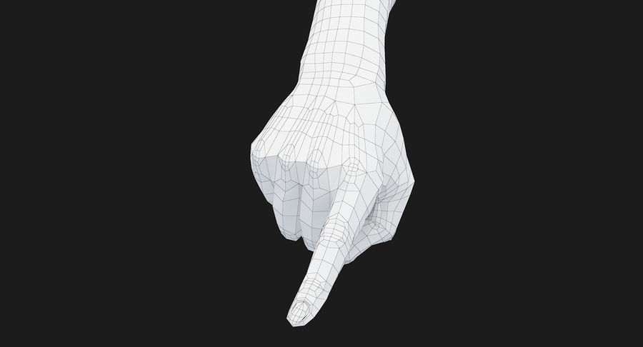Female Arm A (Pose E) Pointing royalty-free 3d model - Preview no. 39