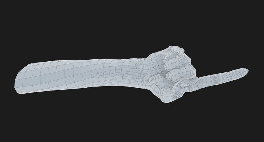 Female Arm A (Pose E) Pointing royalty-free 3d model - Preview no. 52