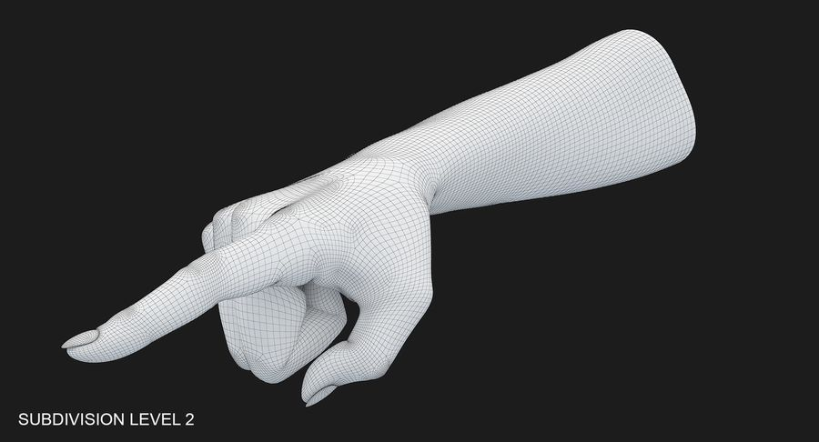 Female Arm A (Pose E) Pointing royalty-free 3d model - Preview no. 28