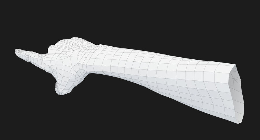 Female Arm A (Pose E) Pointing royalty-free 3d model - Preview no. 29