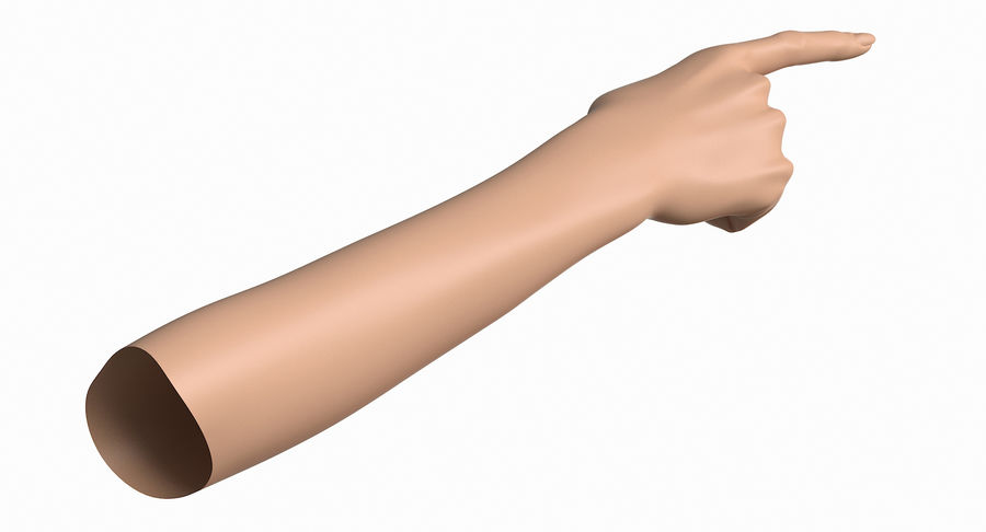 Female Arm A (Pose E) Pointing royalty-free 3d model - Preview no. 10