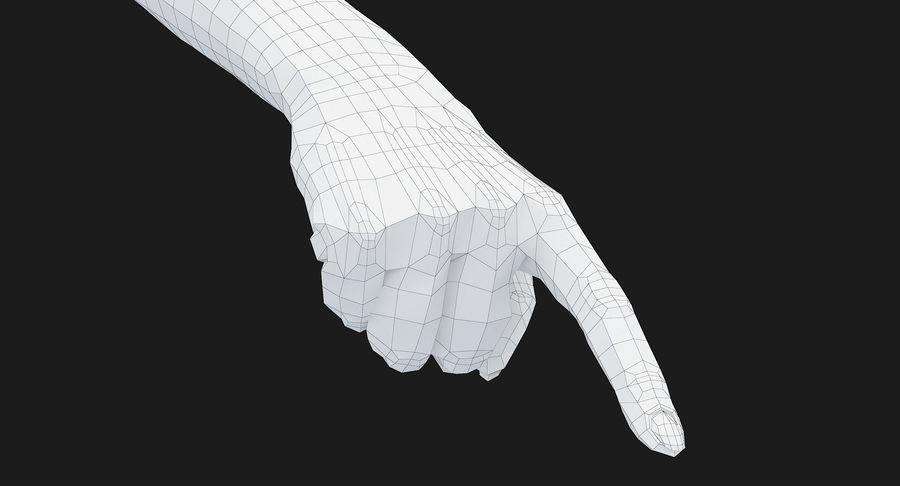 Female Arm A (Pose E) Pointing royalty-free 3d model - Preview no. 50
