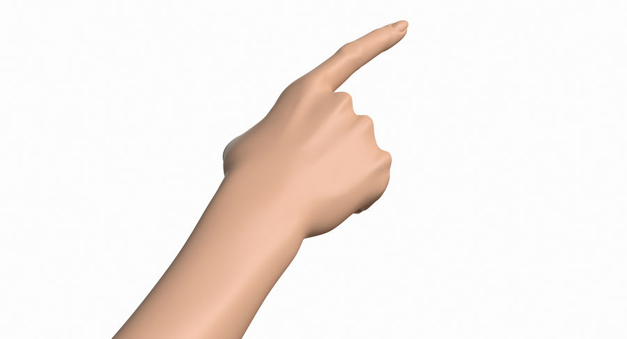 Female Arm A (Pose E) Pointing royalty-free 3d model - Preview no. 16