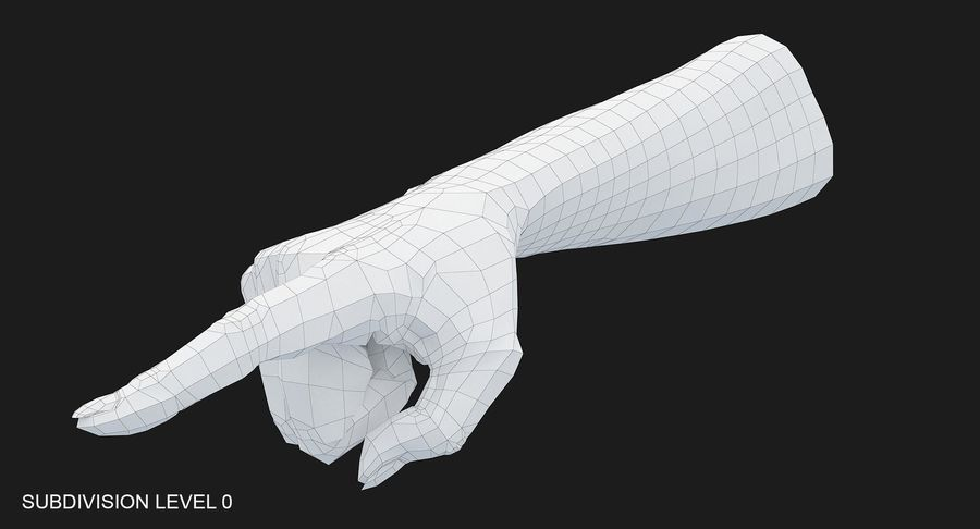 Female Arm A (Pose E) Pointing royalty-free 3d model - Preview no. 27