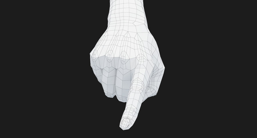 Female Arm A (Pose E) Pointing royalty-free 3d model - Preview no. 49