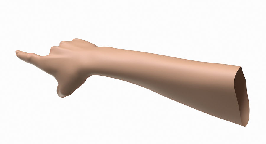 Female Arm A (Pose E) Pointing royalty-free 3d model - Preview no. 5