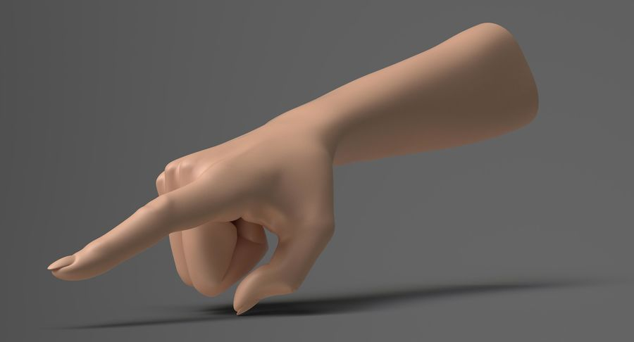 Female Arm A (Pose E) Pointing royalty-free 3d model - Preview no. 4