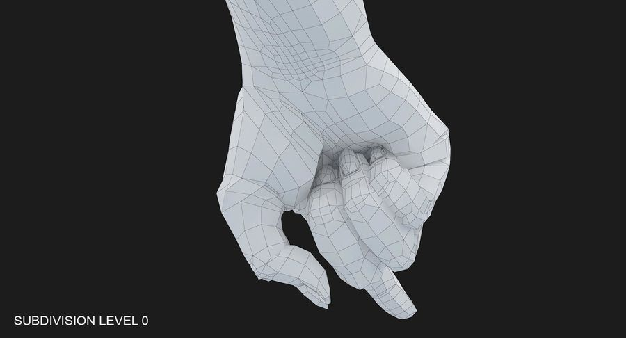 Female Arm A (Pose E) Pointing royalty-free 3d model - Preview no. 43