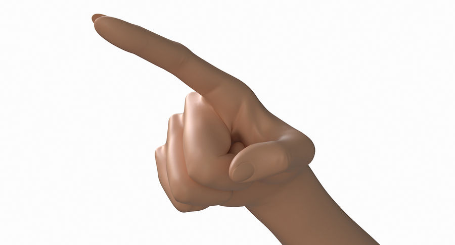 Female Arm A (Pose E) Pointing royalty-free 3d model - Preview no. 13