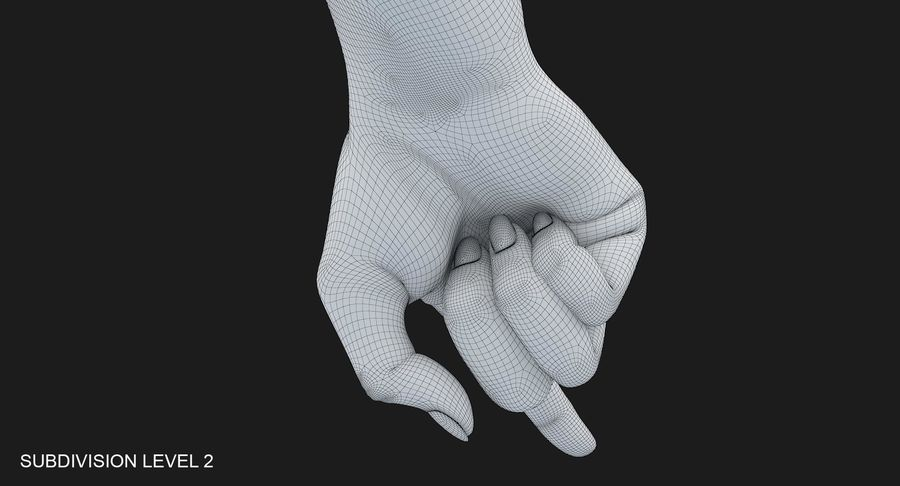 Female Arm A (Pose E) Pointing royalty-free 3d model - Preview no. 44