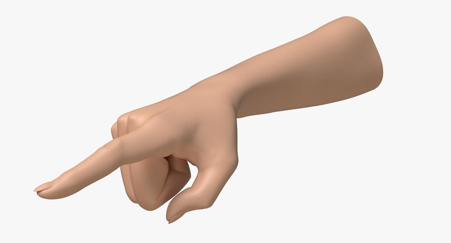 Female Arm A (Pose E) Pointing royalty-free 3d model - Preview no. 3