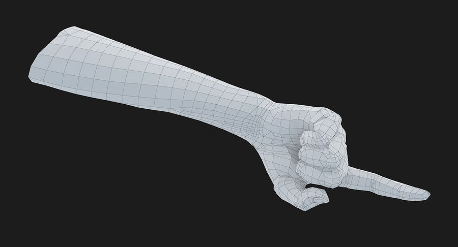 Female Arm A (Pose E) Pointing royalty-free 3d model - Preview no. 31