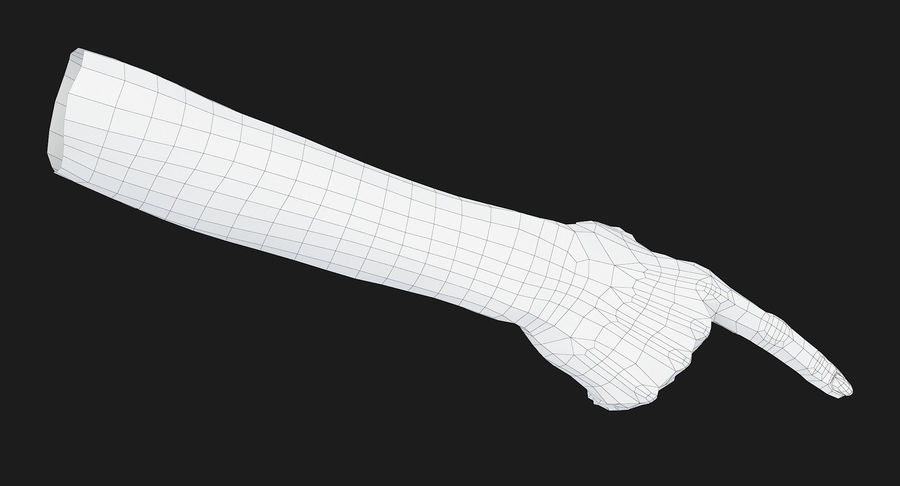 Female Arm A (Pose E) Pointing royalty-free 3d model - Preview no. 33