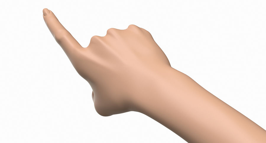 Female Arm A (Pose E) Pointing royalty-free 3d model - Preview no. 15