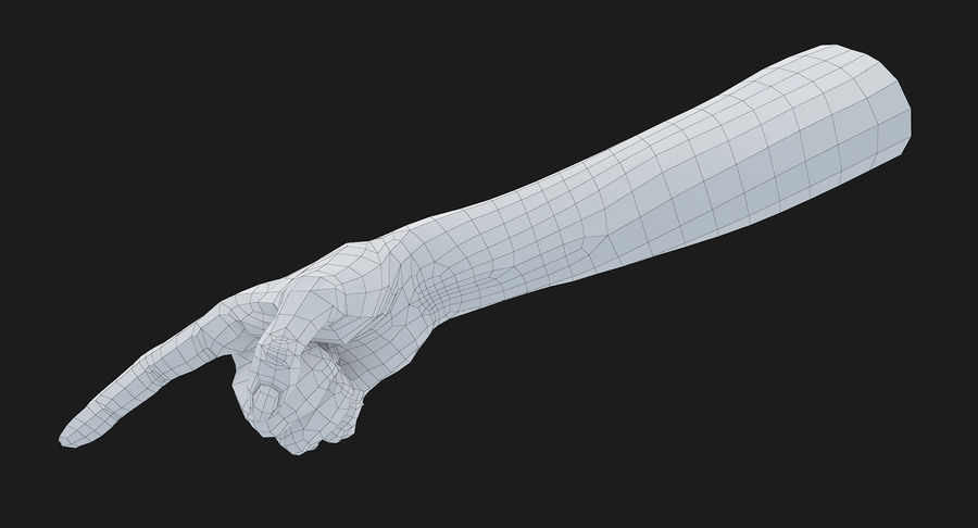 Female Arm A (Pose E) Pointing royalty-free 3d model - Preview no. 30