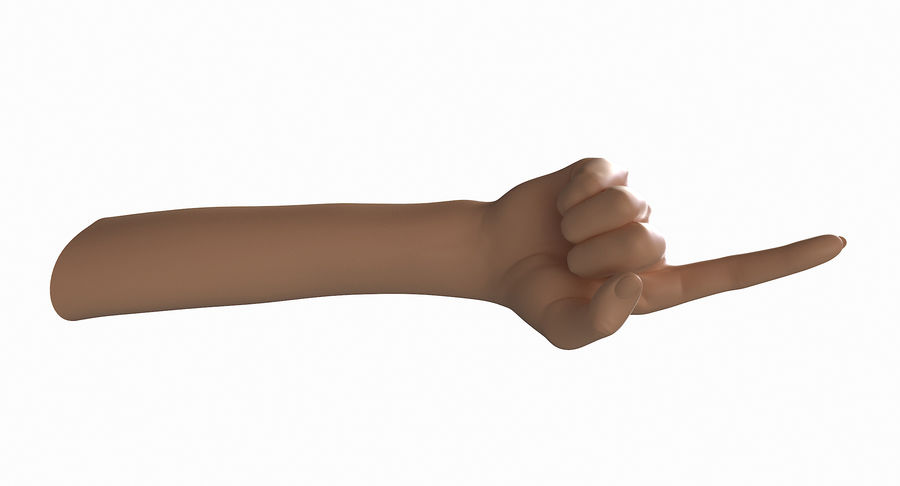 Female Arm A (Pose E) Pointing royalty-free 3d model - Preview no. 25
