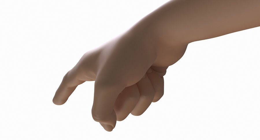 Female Arm A (Pose E) Pointing royalty-free 3d model - Preview no. 20