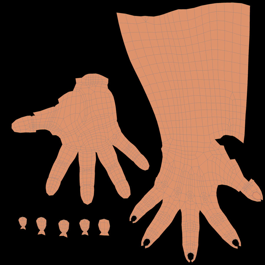 Female Arm A (Pose E) Pointing royalty-free 3d model - Preview no. 55