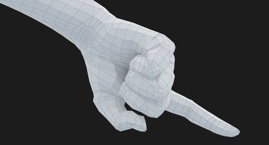 Female Arm A (Pose E) Pointing royalty-free 3d model - Preview no. 42