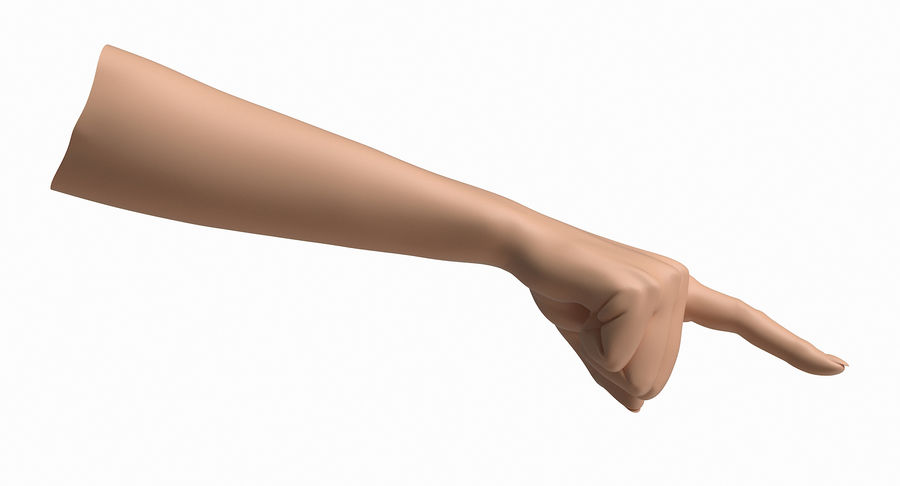 Female Arm A (Pose E) Pointing royalty-free 3d model - Preview no. 26