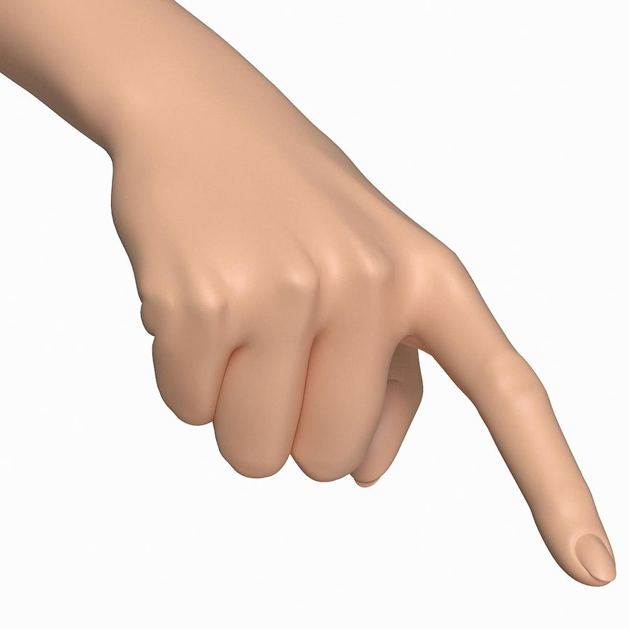 Female Arm A (Pose E) Pointing royalty-free 3d model - Preview no. 1