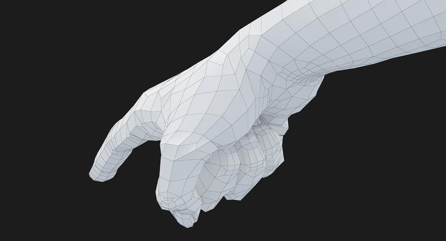 Female Arm A (Pose E) Pointing royalty-free 3d model - Preview no. 46