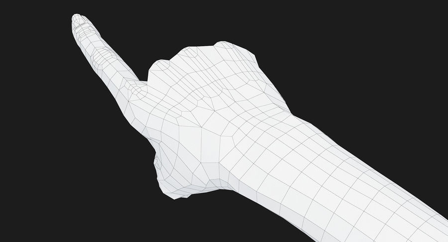 Female Arm A (Pose E) Pointing royalty-free 3d model - Preview no. 40