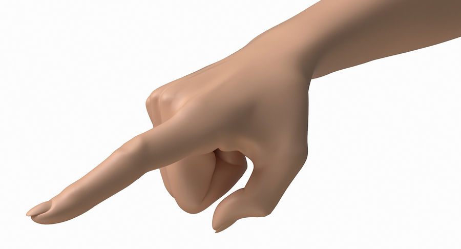 Female Arm A (Pose E) Pointing royalty-free 3d model - Preview no. 22