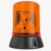 Acil uyarı ışığı 3d model