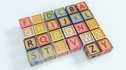 Bloki alfabetu 3d model