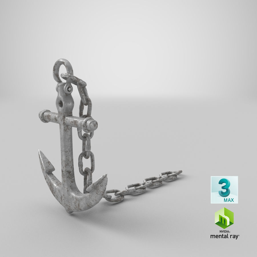 Ancre de bateau rouillée royalty-free 3d model - Preview no. 20