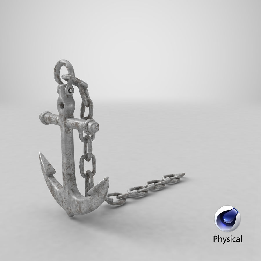 Ancre de bateau rouillée royalty-free 3d model - Preview no. 21
