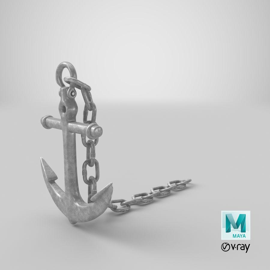 Ancre de bateau royalty-free 3d model - Preview no. 17