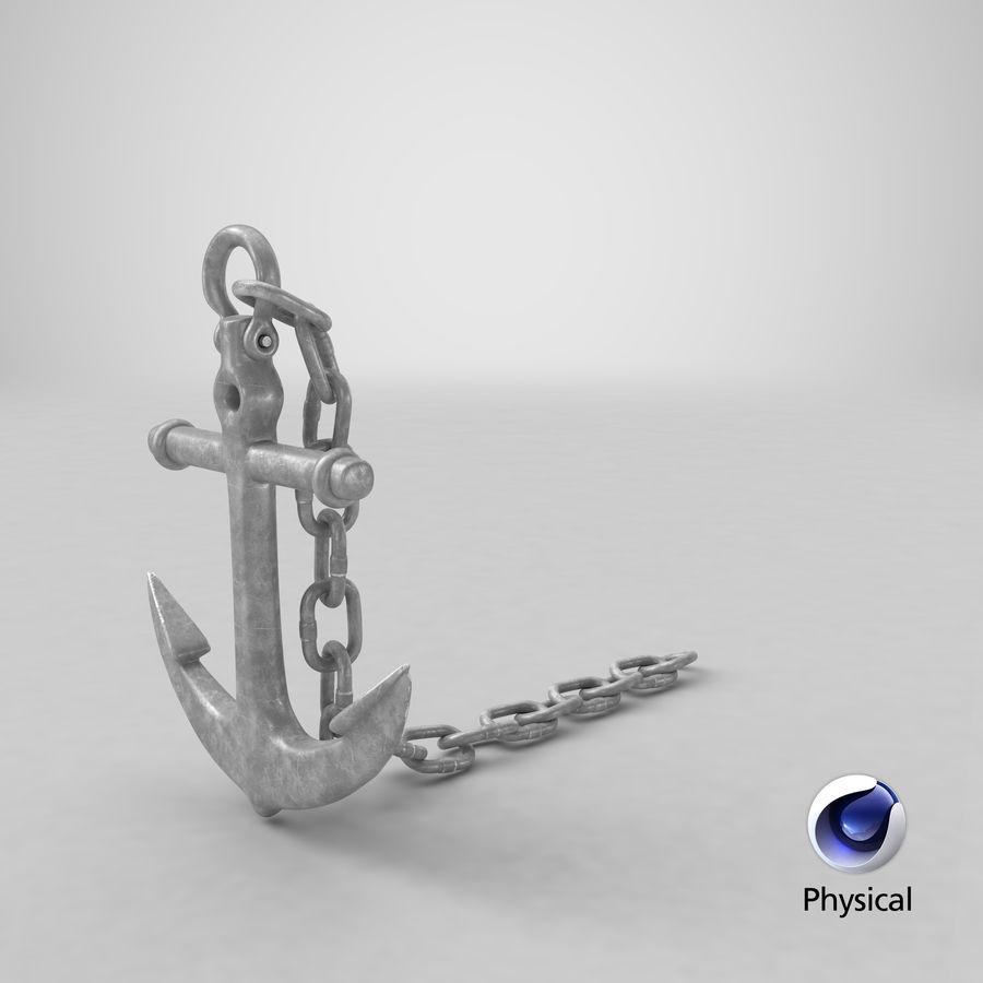 Ancre de bateau royalty-free 3d model - Preview no. 21