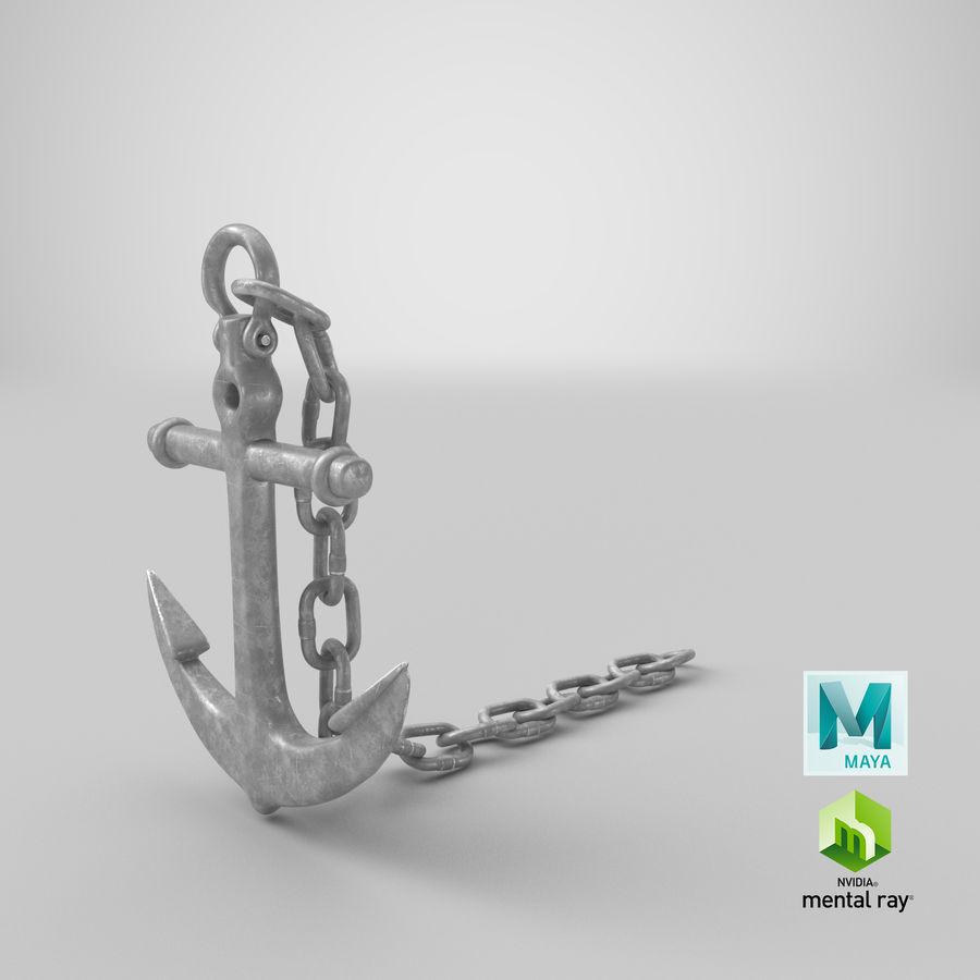 Ancre de bateau royalty-free 3d model - Preview no. 18