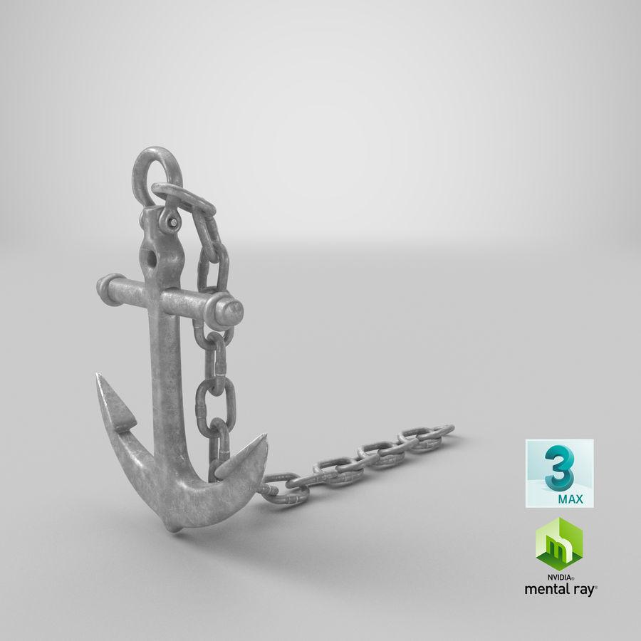 Ancre de bateau royalty-free 3d model - Preview no. 20
