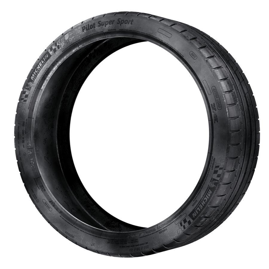 Michelin Pilot Super Sport royalty-free 3d model - Preview no. 4