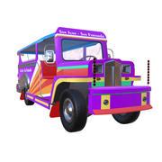 Philippines car Jeepney 3d model