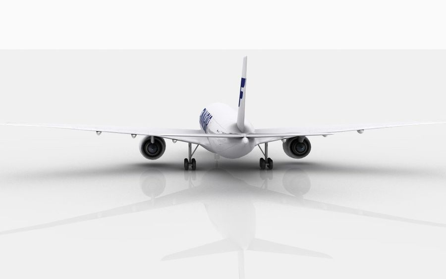 Airbus A350 Finnair royalty-free 3d model - Preview no. 7