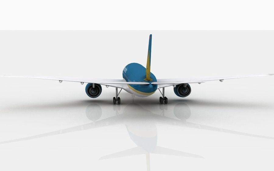 空中客车A350越南航空 royalty-free 3d model - Preview no. 5
