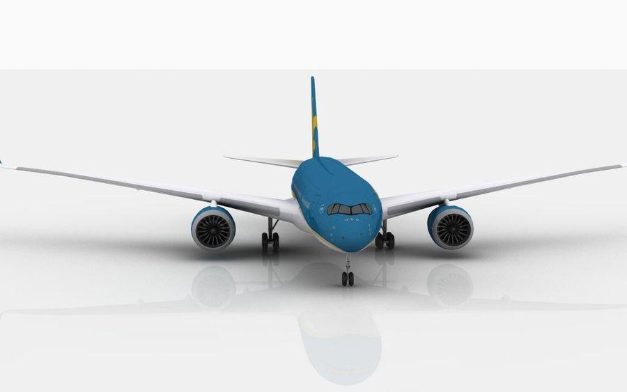 空中客车A350越南航空 royalty-free 3d model - Preview no. 3