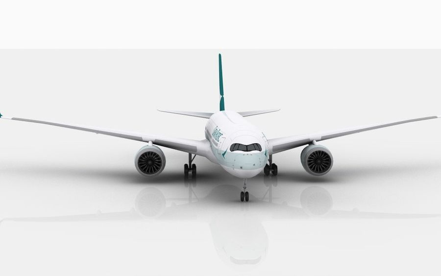 Airbus A350 Cathay Pacific royalty-free modelo 3d - Preview no. 4