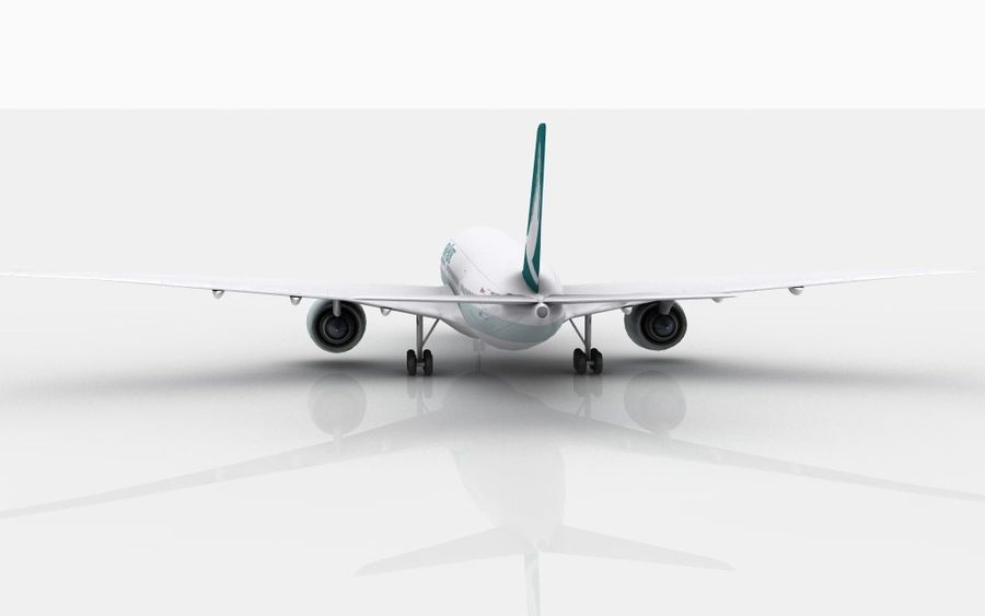 Airbus A350 Cathay Pacific royalty-free modelo 3d - Preview no. 7