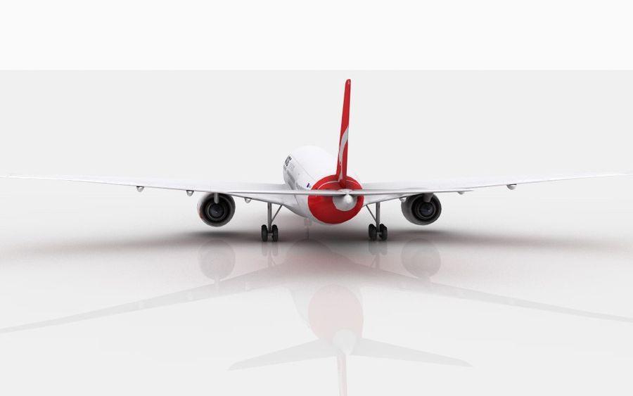 Airbus A350 Qantas royalty-free 3d model - Preview no. 4