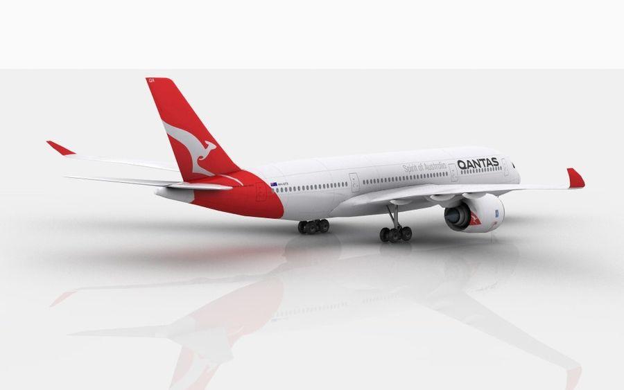 Airbus A350 Qantas royalty-free 3d model - Preview no. 3