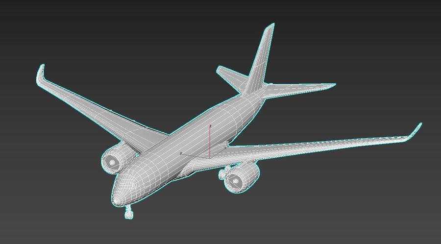 Airbus A350 Qantas royalty-free 3d model - Preview no. 6