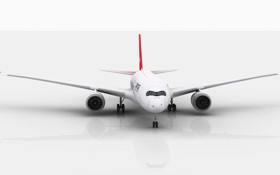 Airbus A350 Qantas royalty-free 3d model - Preview no. 2