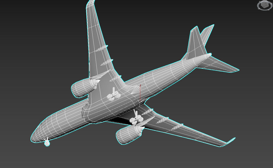 Airbus A350 Qatar royalty-free 3d model - Preview no. 7